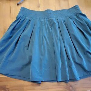 Dark teal skater skirt with pockets